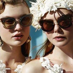 4337293a75d Miu Miu Accessories - MIU MIU Sunglasses Layered Butterfly